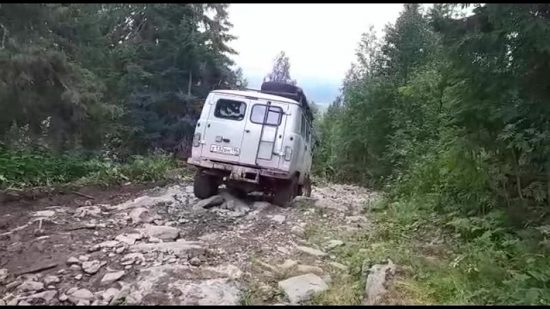 спуск буханки с плато Кваркуш