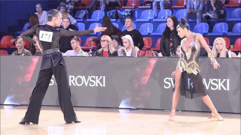 Artem Nasretdinov - Elizaveta Semashko RUS, Cha-Cha-Cha | ROC 2018 WDSF Open Youth Latin