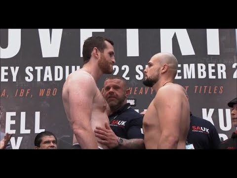 David Price vs Sergey Kuzmin Weigh-in And Intense Face-Off (21/09/18)