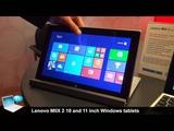 Lenovo MIIX 2 10-inch and MIIX 2 11-inch, Windows tablet