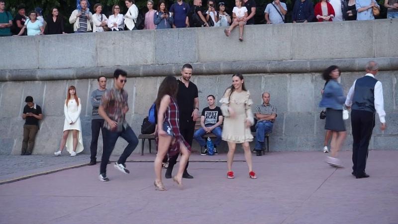 Джайв 1 Open air Бальные танцы в Парке Горького Москва 14 августа 2018