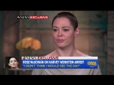 Rose McGowan responds to Harvey Weinstein turning himself in | GMA ABC
