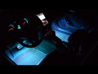 WOXMA LED Strip Car RGB 4X9 pcs Car Interior Decorative Atmosphere led Strip SMD 5050 Car RGB Pathway Floor Light Remote Control