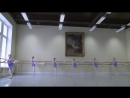 Vaganova Ballet Academy Barre Classical Dance Exam Girls 4th class 2015