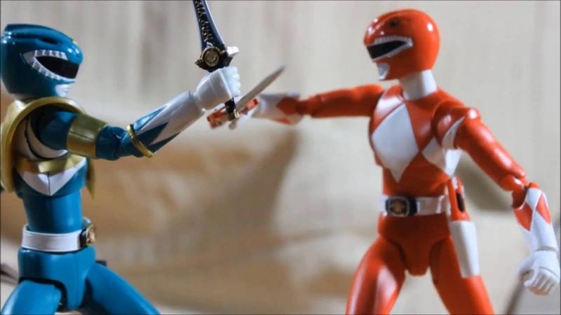 ★MMPR Green Ranger vs Red Ranger Stop Motion Animation