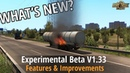 ETS2 v1 33 What's New Experimental Beta Rain Drops improved Double flatbed Physics