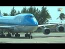 St Maarten famous KLM B747 low landing and amazing Jet Blast Full HD 1920x1080