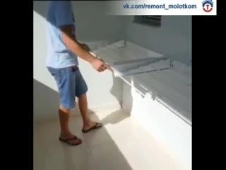 Самое удобное, что можно придумать для развешивания белья на балконе 😊👍🏻