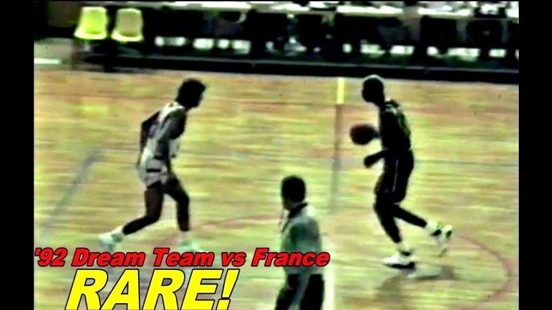 Michael Jordan | 1992 DREAM TEAM vs FRANCE Olympic Exhibition Game! Dunk Show Rare!