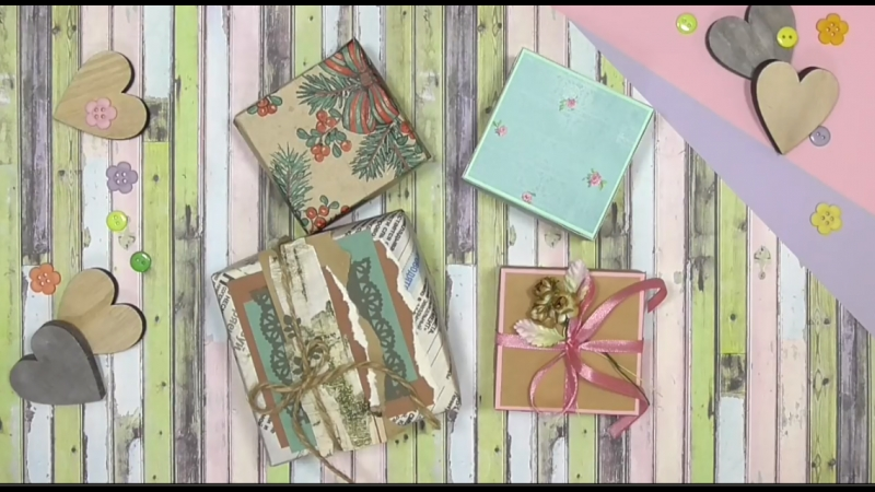подарочная КОРОБОЧКА ЗА 5 МИНУТ! gift box in 5 minutes