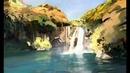 Waterfall - Digital Painting Process