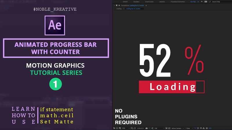Animated progress bar with counter in After Effects | Easy