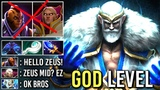 Holy Cow! Glimmer Zeus Mid vs Best Counter Anti-Mage Invoker Epic Gameplay by Dendi WTF Build Dota 2