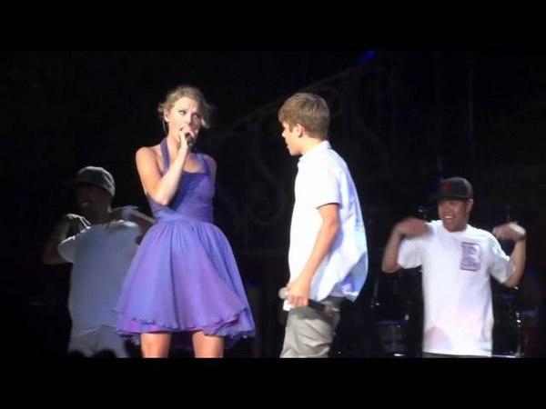 Justin Bieber Taylor Swift Baby Staples Center August 23, 2011
