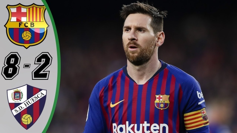 🔥 Барселона - Уэска 8-2 - Обзор Матча Чемпионата Испании 02092018 HD 🔥
