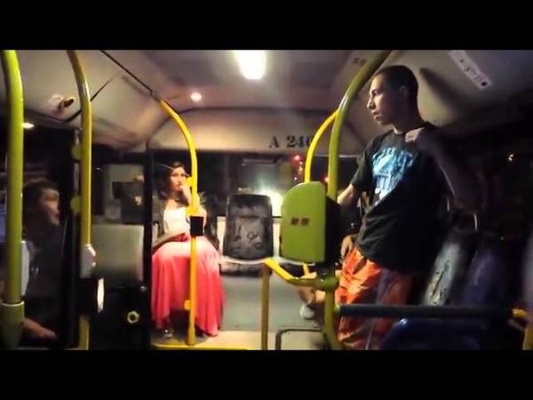 Украина и Польша в автобусе драка