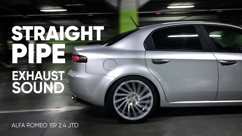 Exhaust crazy turbodiesel sound [straight pipe, cutout, rev limiter, accelerations] AlfaRomeo 2.4JTD