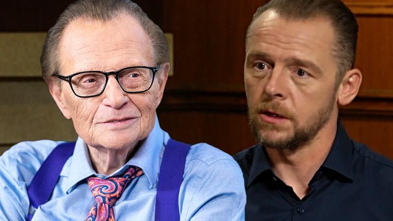 Актёр Саймон Пегг дал интервью Ларри Кингу для шоу «Larry King Now»