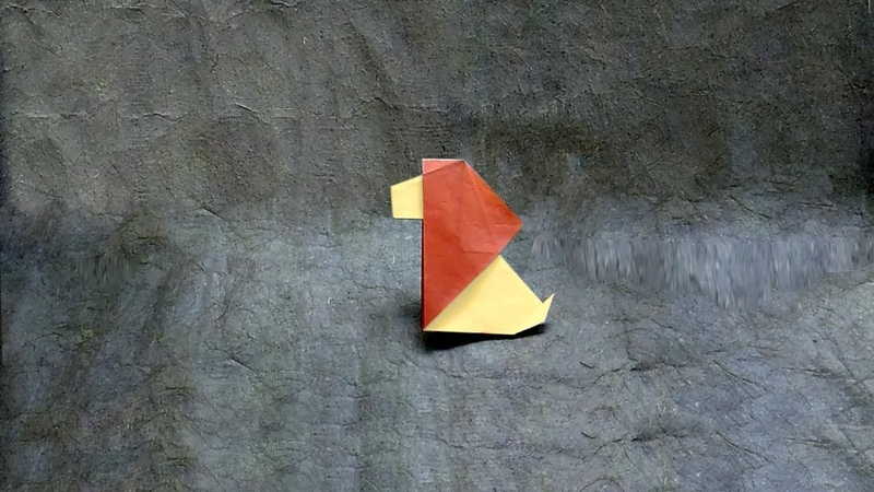 [stop motion animation] How to Fold an Origami Lion (лев/singa/أسد/ライオン/獅子/사자) (Rui Roda)
