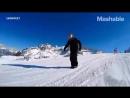 Лыжи можно заменить обычной подошвой