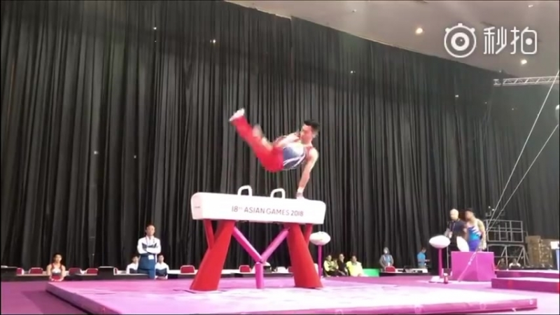 Lee Chih Kai Pommel Horse Podium Training Asian Games