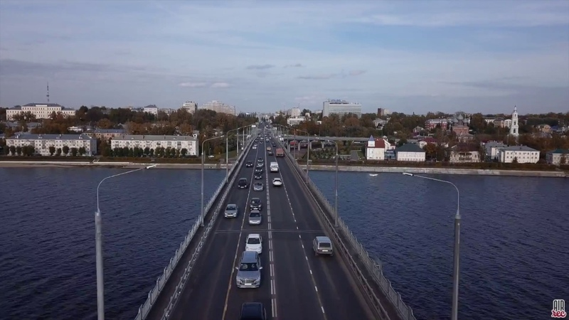 Костромской автодорожный мост Октябрь 2018