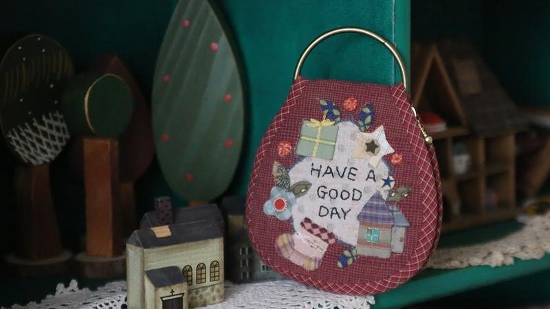 DIY 퀼트 키홀더 만들기│Quilt Keyring holder│How To Make Crafts Tutorial