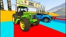 Мультики про Машинки Цветные Вертолёты Монстр Трак Полицейские машины Трактор Все серии для Детей