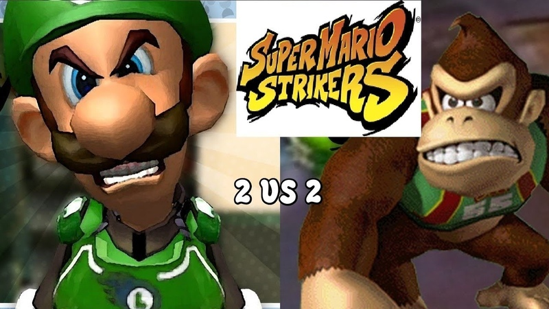 Super Mario Strikers Multiplayer 2 vs 2