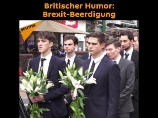 Britischer Humor: Brexit-Beerdigung