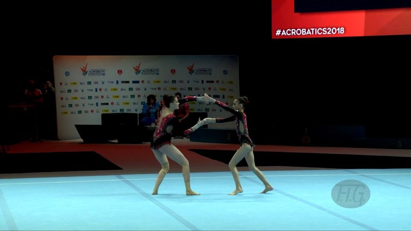 Russian Federation 2 (RUS) - 2018 Acrobatic Worlds, Antwerpen (BEL) - Balance Women's Pair