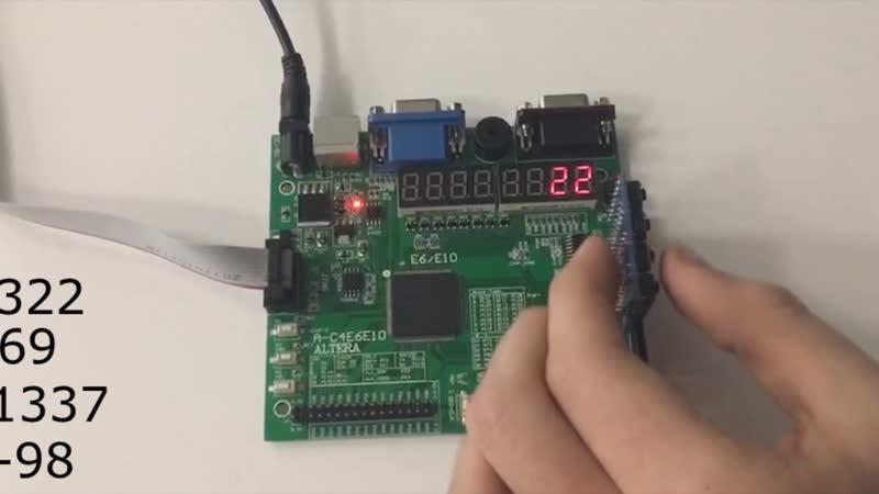 Stack-based calculator on the FPGA board