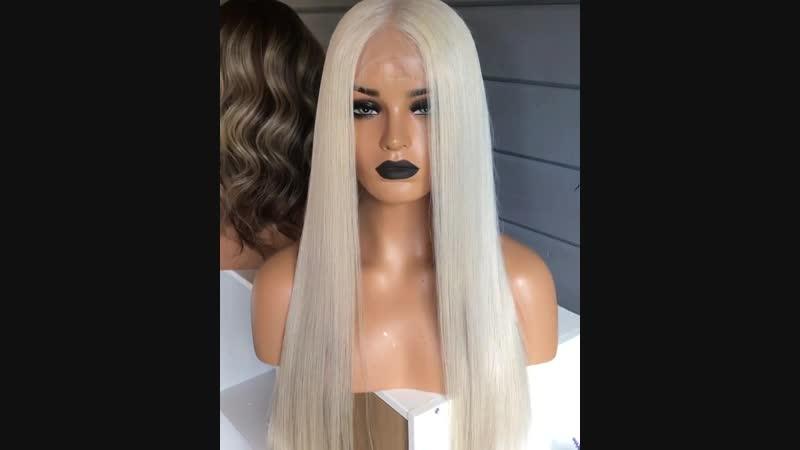 парик на полной сетке пепельный блонд 50см