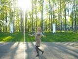 Анастасия Семёнова , беременность 6 мес - работа с тростью