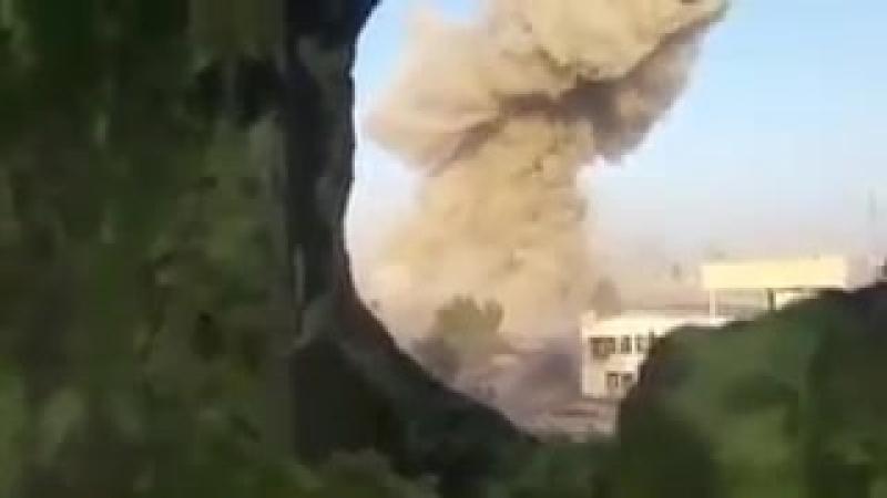 Сирия. 20\04\2018. САА пускает УР-77 Метеорит по боевикам в лагере Ярмук.