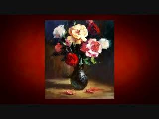 Живопись_маслом_Мастер-Класс_Как_нарисовать_цветы_Розы_+79857776200