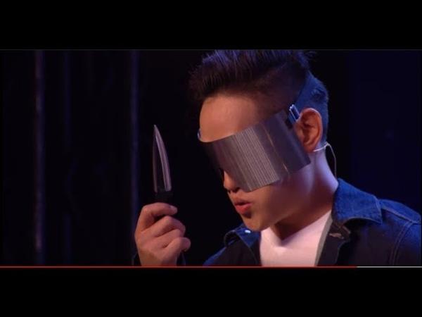 Cực GAY CẤN Ảo Thuậ PHI ĐAO! Andrew Lee Danger Magician Risks|Eng-Vietsub| Britain's Got Talent 2018