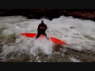 Flying through kayak