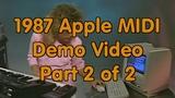 1987 Apple Computer Reseller Training Video - Apple MIDI Interface - Second Half