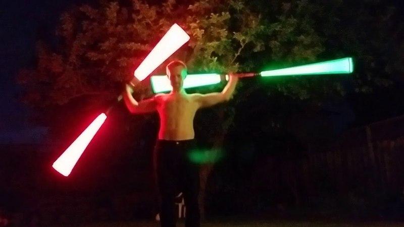 Lightsaber Double Staff Flow (Pong Krell inspired, long)