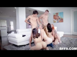 Harmony Wonder, Melody Parker, Natalie Brooks, Xeena Mae - Best Friend Pact [All Sex, Hardcore, Blowjob, Gonzo]