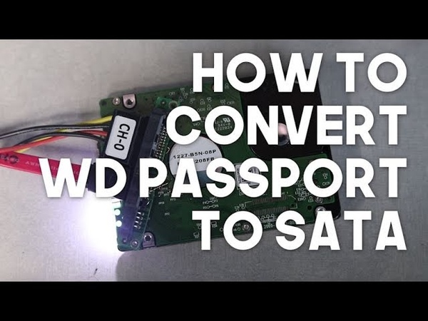 How to convert WD Passport PCB to SATA | data recovery