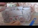 Канцелярский настольный органайзер из газет и картона Рукоделие