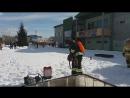 применение установки ранцевой воздуходувка-опрыскиватель