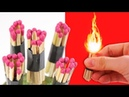 20 Awesome Life Hacks With Matches - Magic Tricks With Fruits
