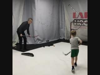 Тренировка для хоккеистов в LarionovHockeyGym c Игорем Ларионовым