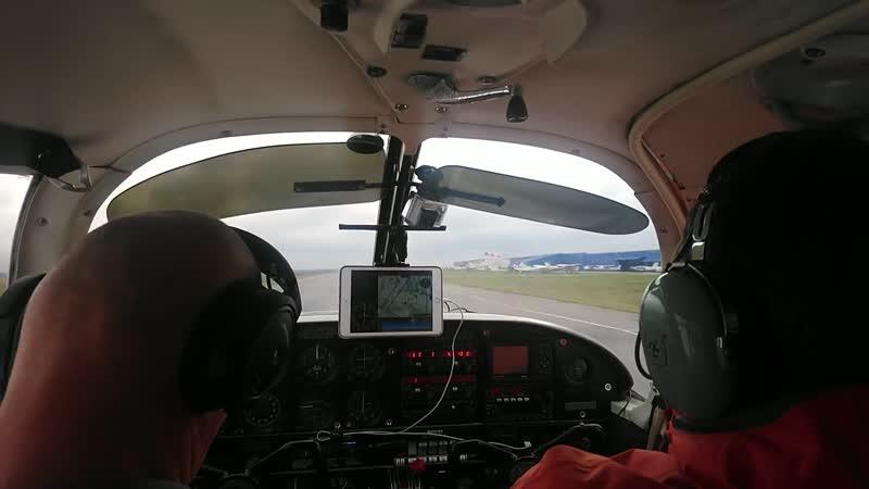 Piper PA-28 Cherokee. аэродром Гостилицы