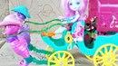 Новая Кукла Enchantimals. Игра для девочек. Куклы Лол покатались на Карете с Энчатималс