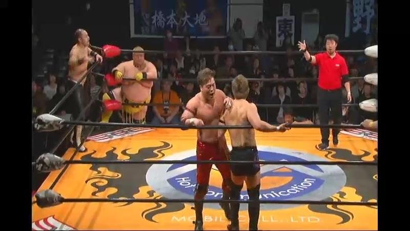 Ryuichi Kawakami, Hideyoshi Kamitani, Yoshihisa Uto vs. Ryota Hama, Kazuki Hashimoto, Kazumi Kikuta (BJW)