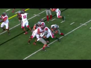 Юта - Вашингтон Стейт - лучшие моменты матча - студенческий американский футбол